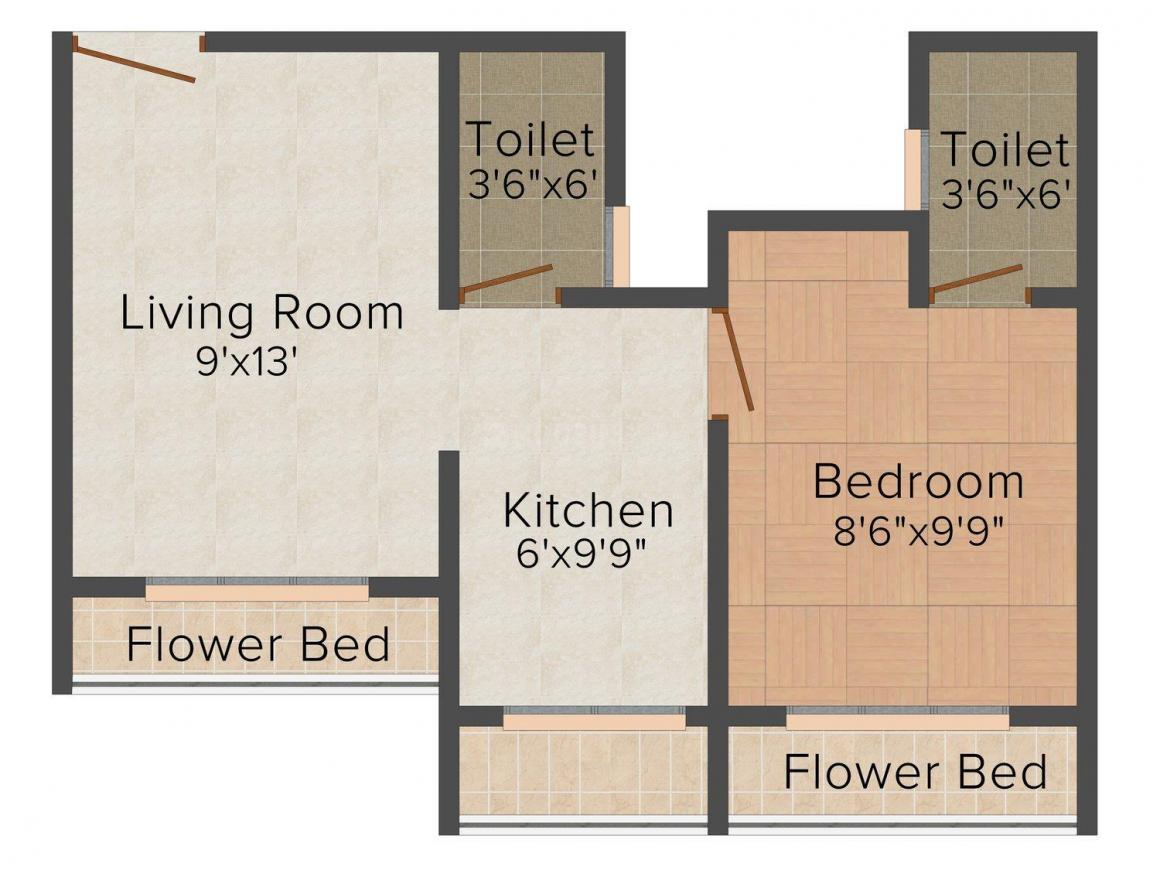 Sai Sindhu Casita Enclave Floor Plan: 1 BHK Unit with Built up area of 540 sq.ft 1