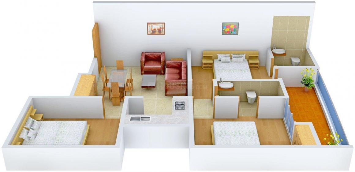 Floor Plan Image of 0 - 1150.0 Sq.ft 3 BHK Independent Floor for buy in Mudgal Avenue