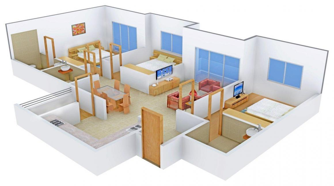 Floor Plan Image of 1687 - 2566 Sq.ft 3 BHK Apartment for buy in Sankalp Luxuria