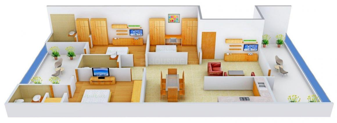 Floor Plan Image of 0 - 1700 Sq.ft 3 BHK Independent Floor for buy in Anil Homes - 1