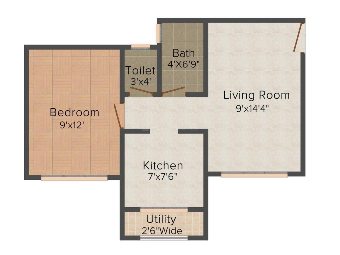 Floor Plan Image of 410 - 680 Sq.ft 1 BHK Apartment for buy in Shree Oshiya Ji Mahim Garden