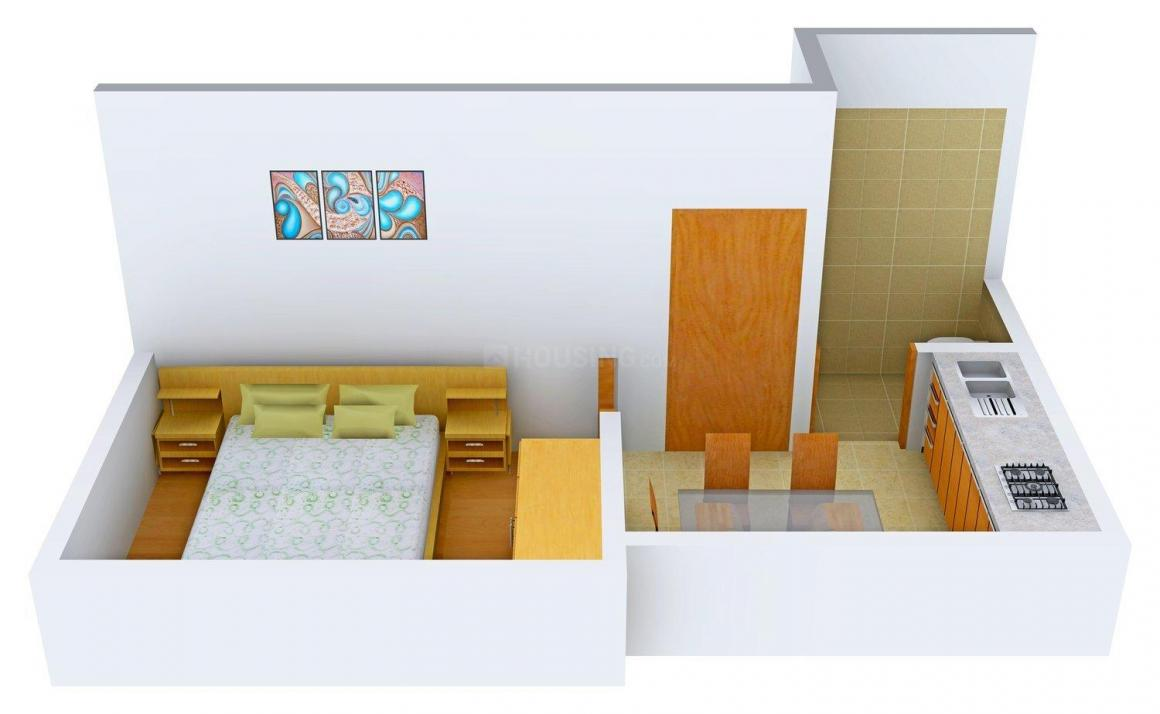 Floor Plan Image of 357.0 - 800.0 Sq.ft 1 BHK Apartment for buy in Tranquil Tranquil Regency