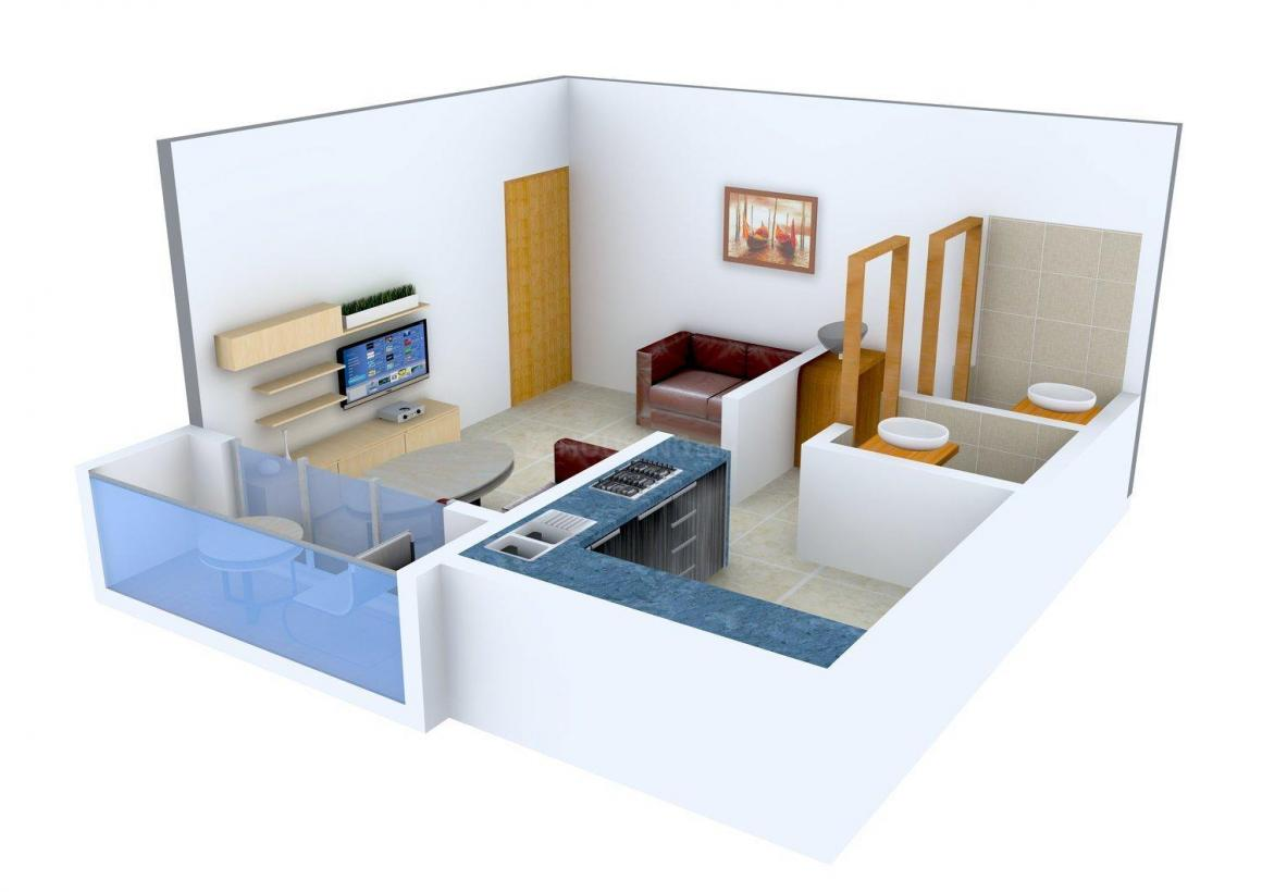 Floor Plan Image of 210.0 - 390.0 Sq.ft 1 RK Apartment for buy in Shree Sai Swastik Royal Plaza