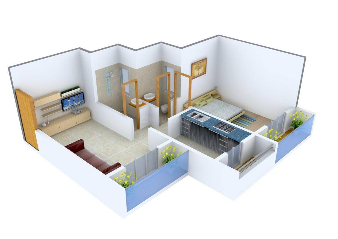 Floor Plan Image of 382.0 - 623.0 Sq.ft 1 BHK Apartment for buy in Shiv Shrushti Complex