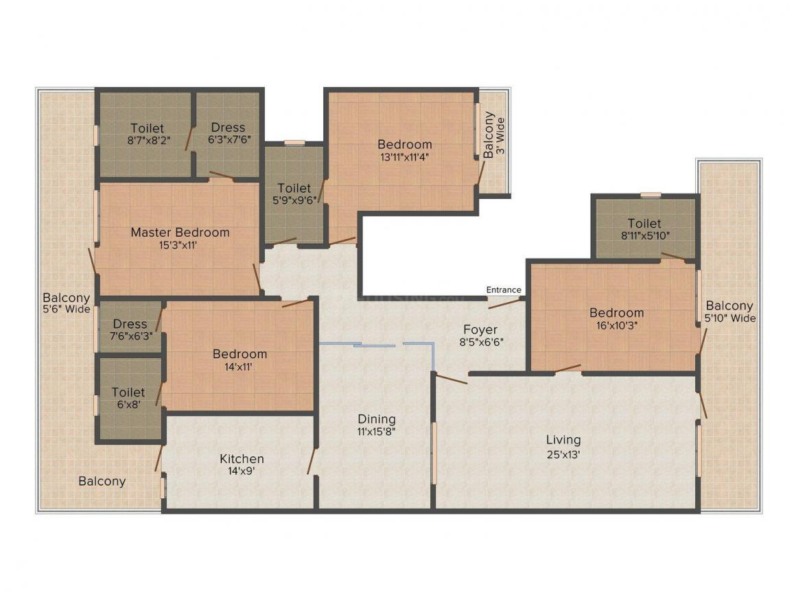 Floor Plan Image of 0 - 2800.0 Sq.ft 4 BHK Independent Floor for buy in Pioneer E-21 Vipul World