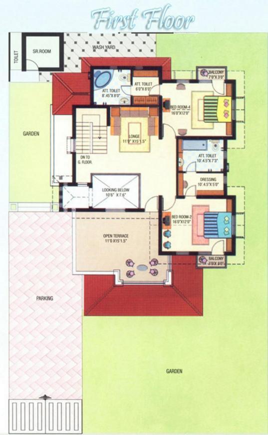 Gopi Vraj Gopi Ville 1 Floor Plan: 4 BHK Unit with Built up area of 4060 sq.ft 2