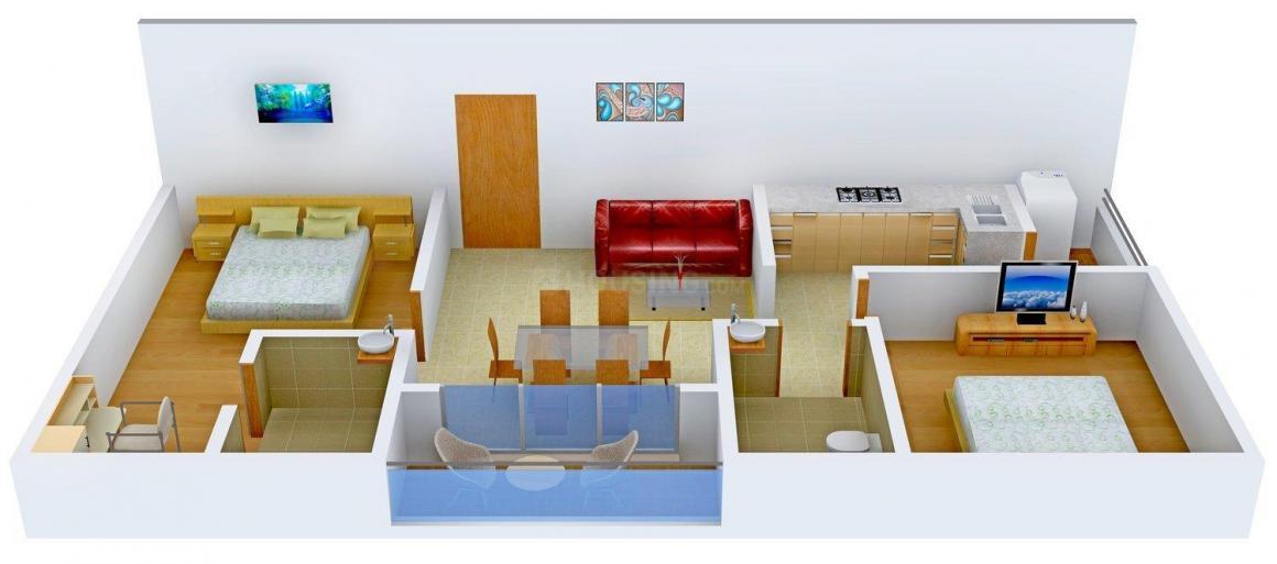 Floor Plan Image of 962 - 1685 Sq.ft 2 BHK Apartment for buy in Skanda Elina