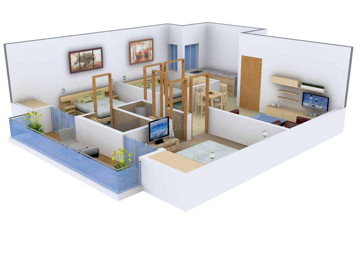 Floor Plan Image of 0 - 1115.0 Sq.ft 3 BHK Apartment for buy in VP Homes 15
