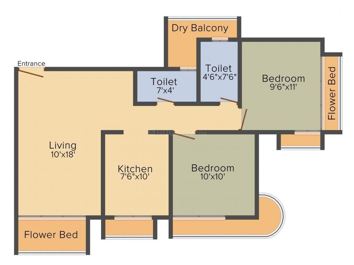 Floor Plan Image of 720.0 - 1120.0 Sq.ft 1 BHK Apartment for buy in Nexus Signature Residency