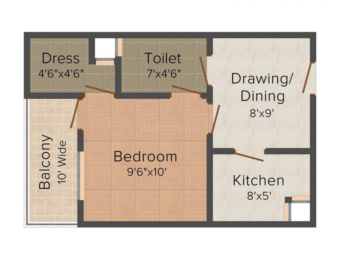 Floor Plan Image of 580.0 - 850.0 Sq.ft 1 BHK Independent Floor for buy in 4 Zone Sai Home