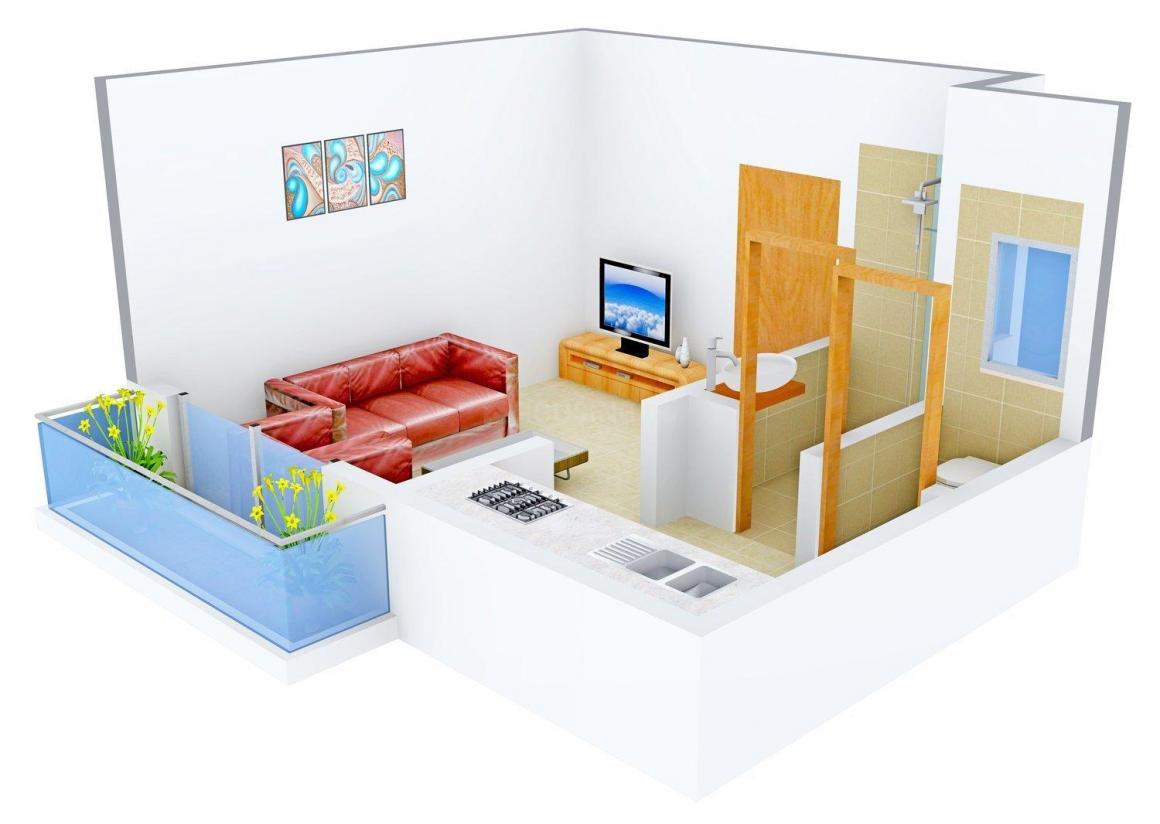 Floor Plan Image of 335.0 - 630.0 Sq.ft 1 RK Apartment for buy in Om Realtors Hansraj Nagri