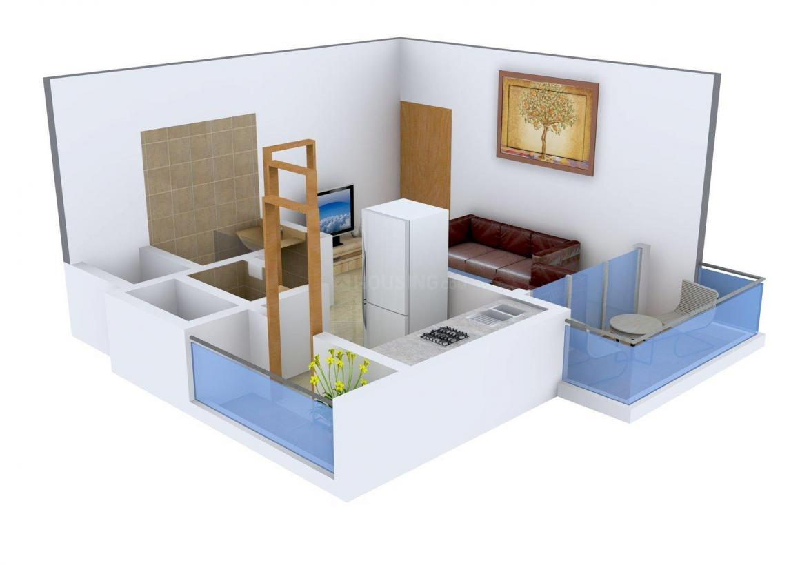 Floor Plan Image of 470 - 690 Sq.ft 1 RK Apartment for buy in Savitri Park View