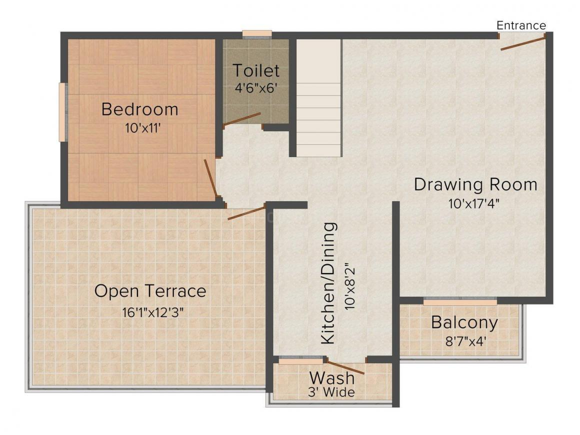 Floor Plan Image of 0 - 1600 Sq.ft 3 BHK Penthouse for buy in Labh Residency - 1