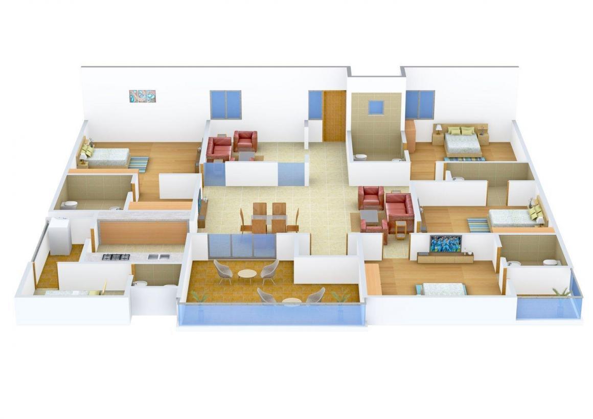 Floor Plan Image of 0 - 3150 Sq.ft 4.5 BHK Independent Floor for buy in Kumar Floors
