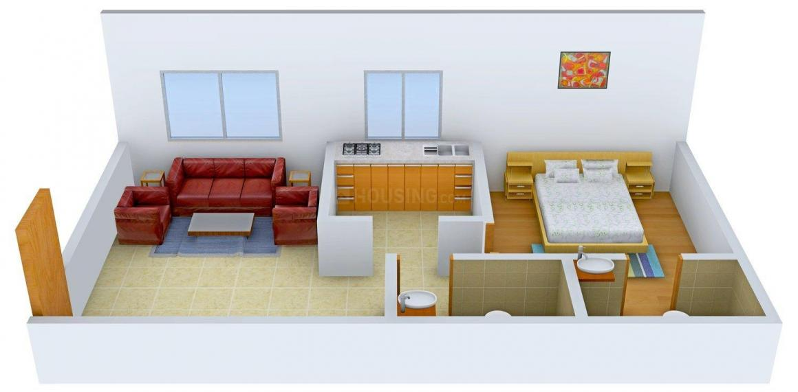 Floor Plan Image of 381.04 - 816.01 Sq.ft 1 BHK Apartment for buy in Navkar Manisha CHS LTD