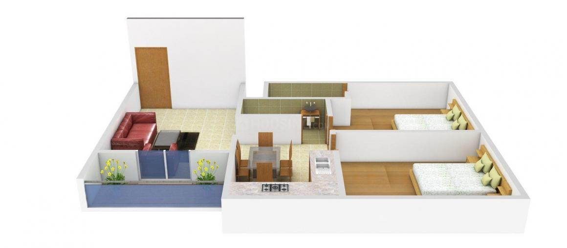 Floor Plan Image of 0 - 980.0 Sq.ft 2 BHK Apartment for buy in Daksh Heritage