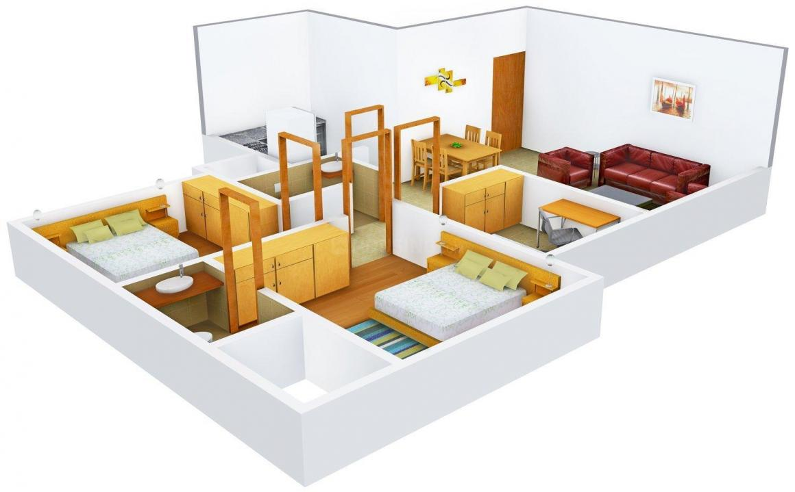 Floor Plan Image of 0 - 752.0 Sq.ft 2.5 BHK Apartment for buy in Bharat Ortenzia