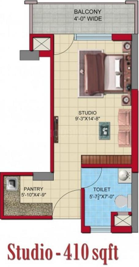 Floor Plan Image of 410.0 - 2840.0 Sq.ft Studio Studio Apartment for buy in Meenal Semeion