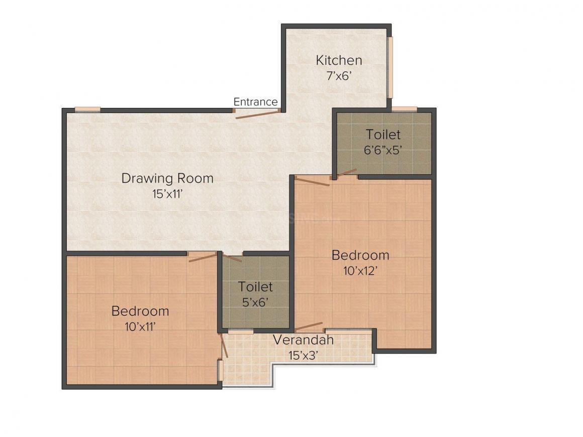 Floor Plan Image of 720 - 1215 Sq.ft 2 BHK Independent Floor for buy in VKG Kalka Homes