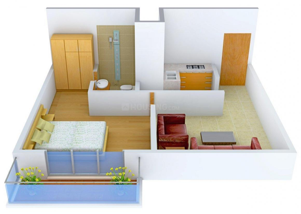 Tulsiani Palacio Imperial White Floor Plan: 1 BHK Unit with Built up area of 767 sq.ft 1