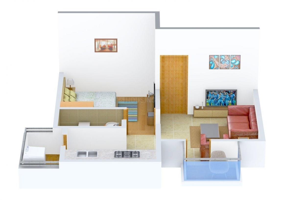Floor Plan Image of 0 - 554.0 Sq.ft 1 BHK Apartment for buy in Green Exotica - IV