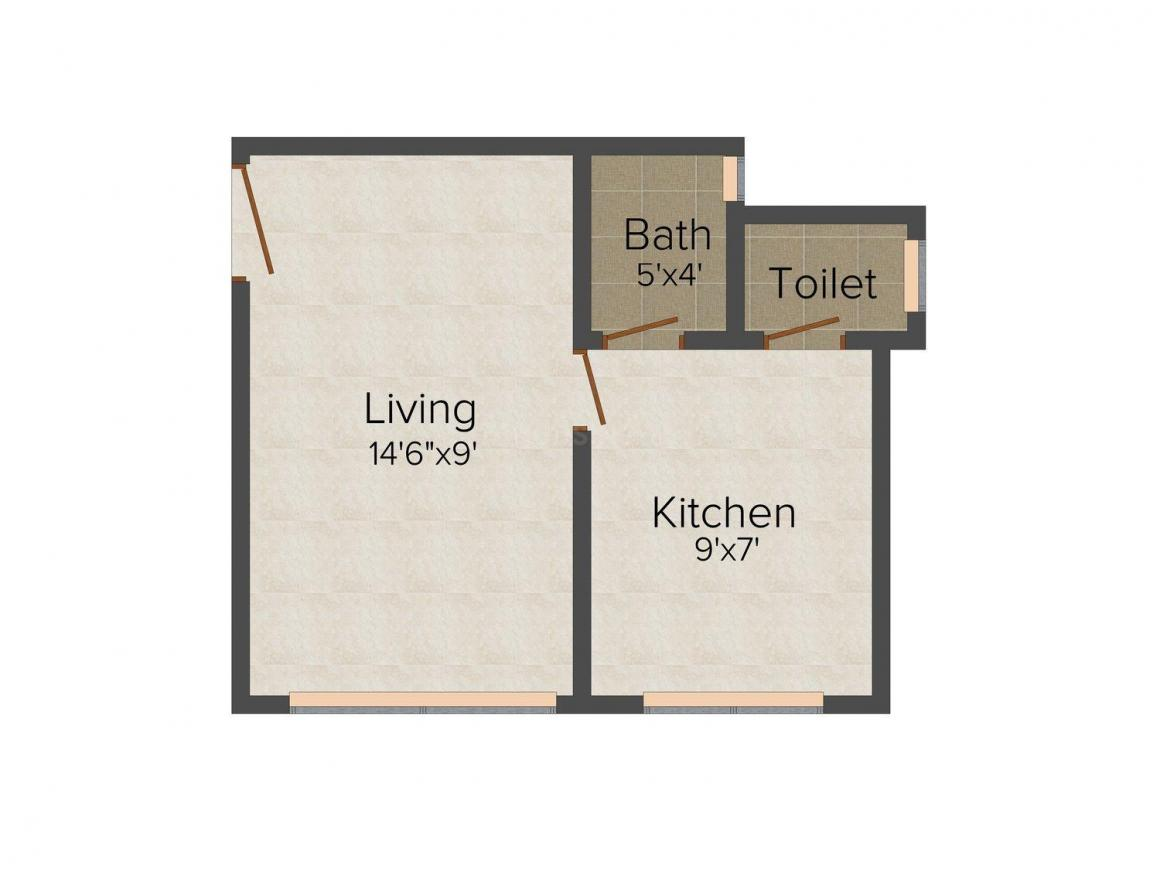 New Home Classic Floor Plan: 1 BHK Unit with Built up area of 226 sq.ft 1