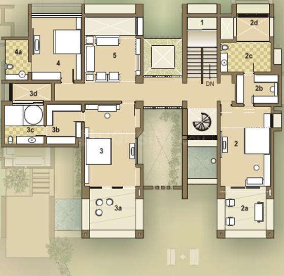 Goyal Riviera Greens Floor Plan: 5 BHK Unit with Built up area of 5400 sq.ft 1