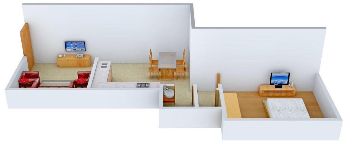 Floor Plan Image of 650 - 860 Sq.ft 1 BHK Apartment for buy in Rajesh Mahavir Gyan