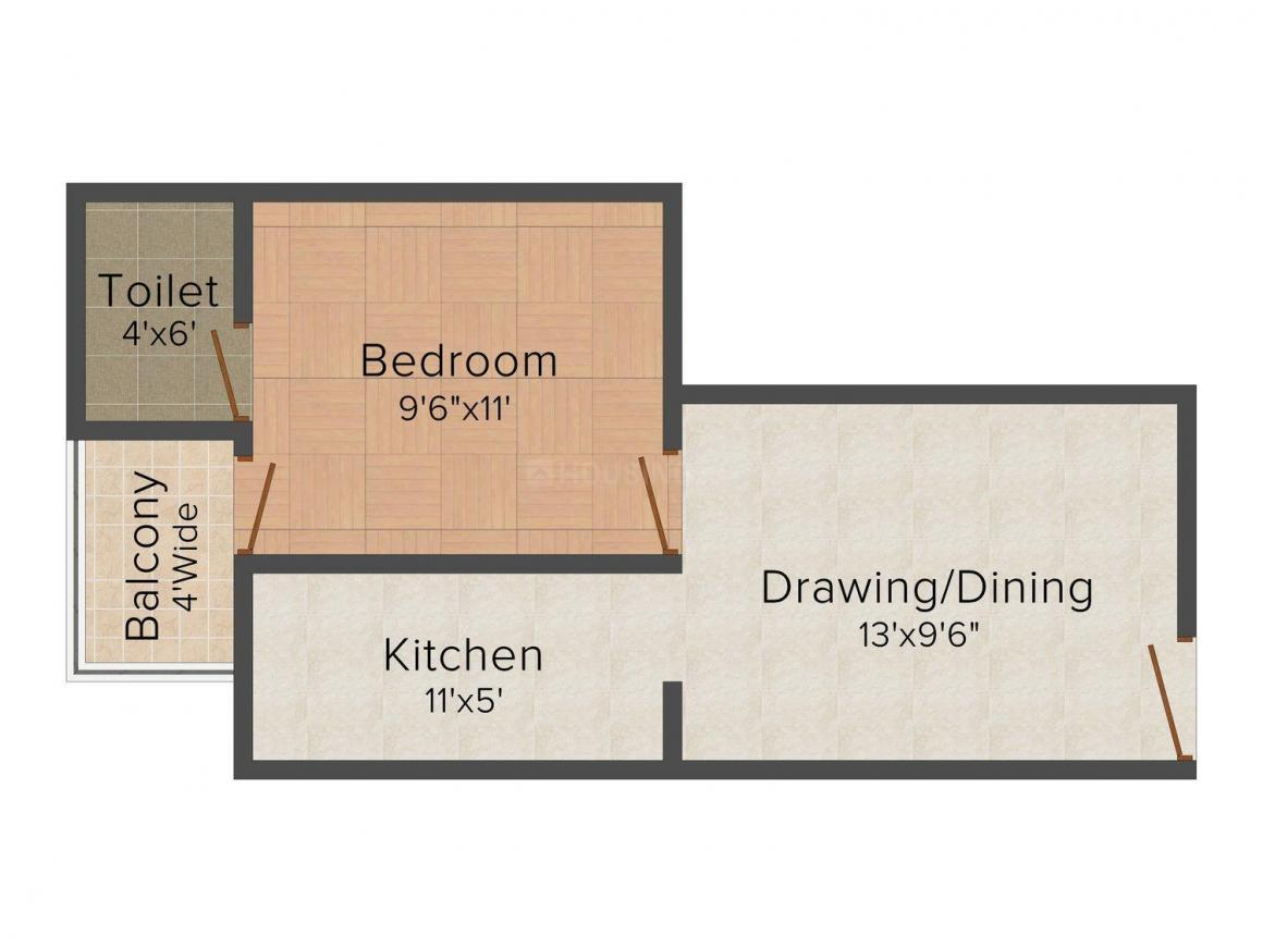 Pathway Homes - 2 Floor Plan: 1 BHK Unit with Built up area of 550 sq.ft 1