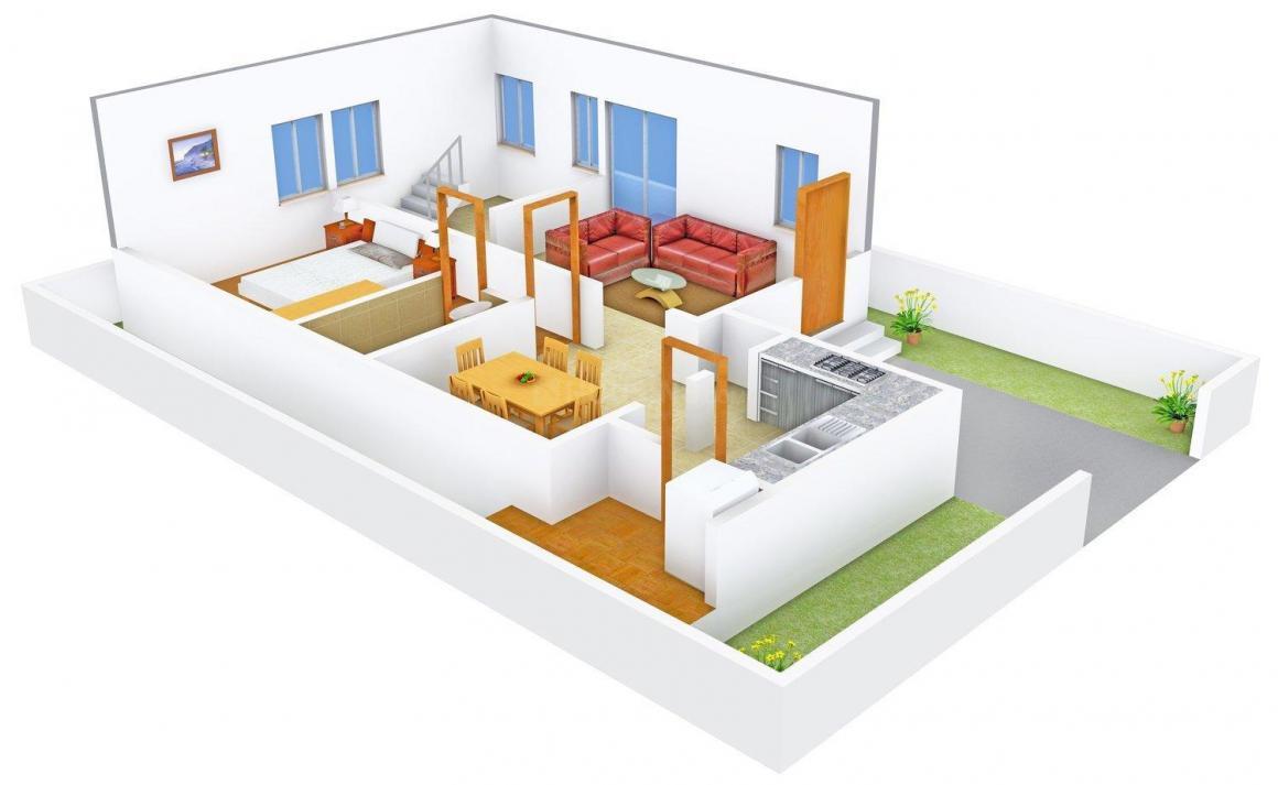 Harini Harini Mansion Floor Plan: 3 BHK Unit with Built up area of 1849 sq.ft 3