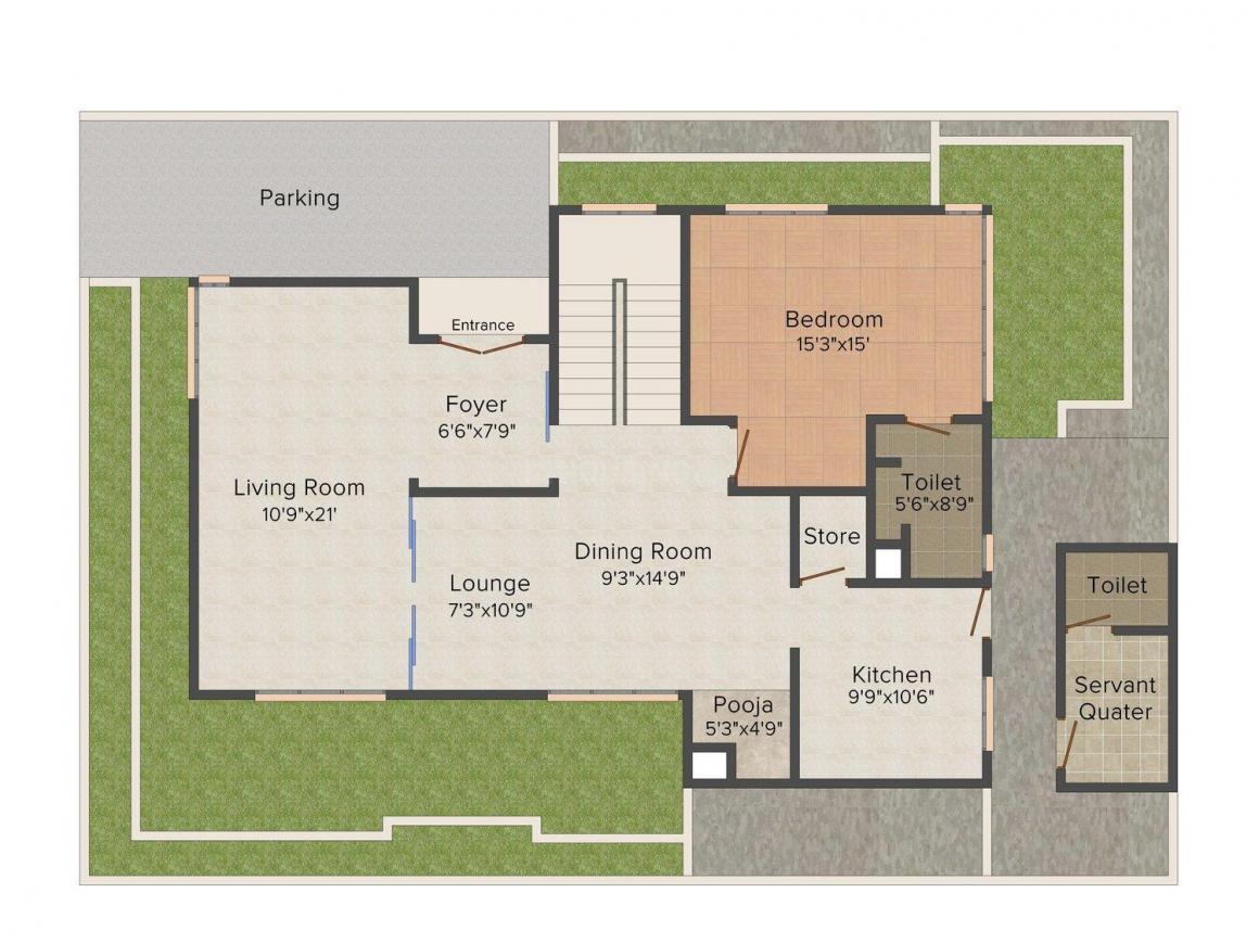 Floor Plan Image of 3400 - 3465 Sq.ft 4 BHK Villa for buy in TVH Vista Ville
