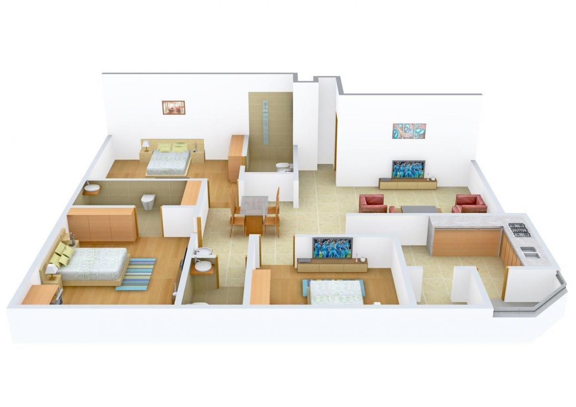 Adi Sumadhur Floor Plan: 3 BHK Unit with Built up area of 1875 sq.ft 1