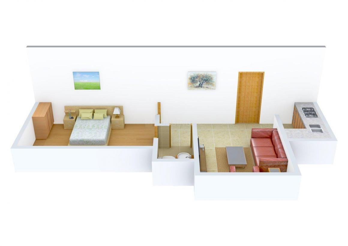 Floor Plan Image of 360.0 - 455.0 Sq.ft 1 BHK Apartment for buy in M&M Tandice