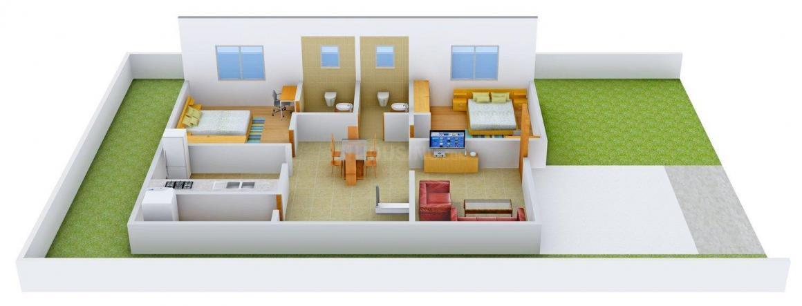 Sai Kripa Floors - 14 Floor Plan: 4 BHK Unit with Built up area of 1485 sq.ft 1