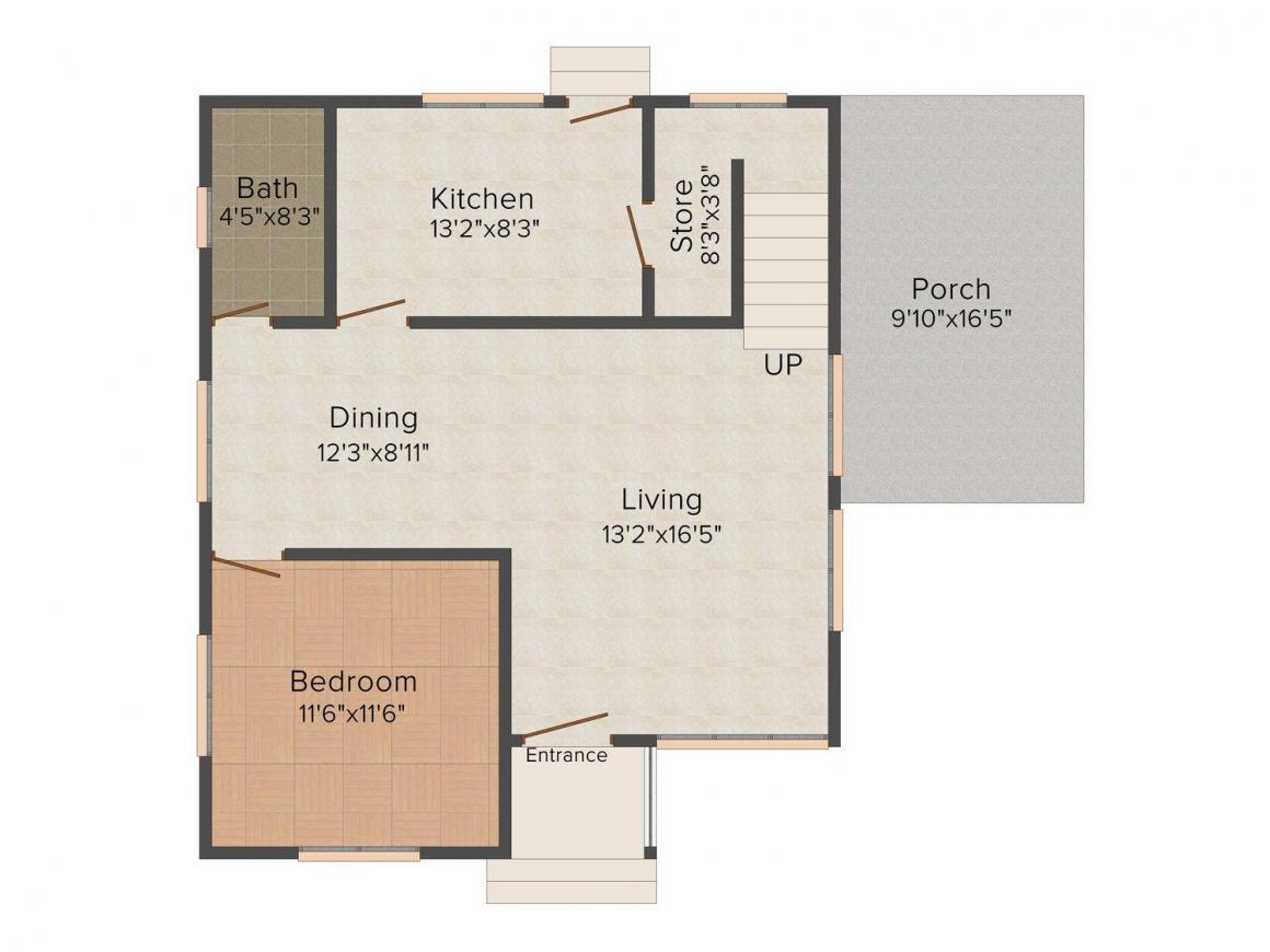 Floor Plan Image of 0 - 1830 Sq.ft 3 BHK Bungalow for buy in S.N. Easter Tree