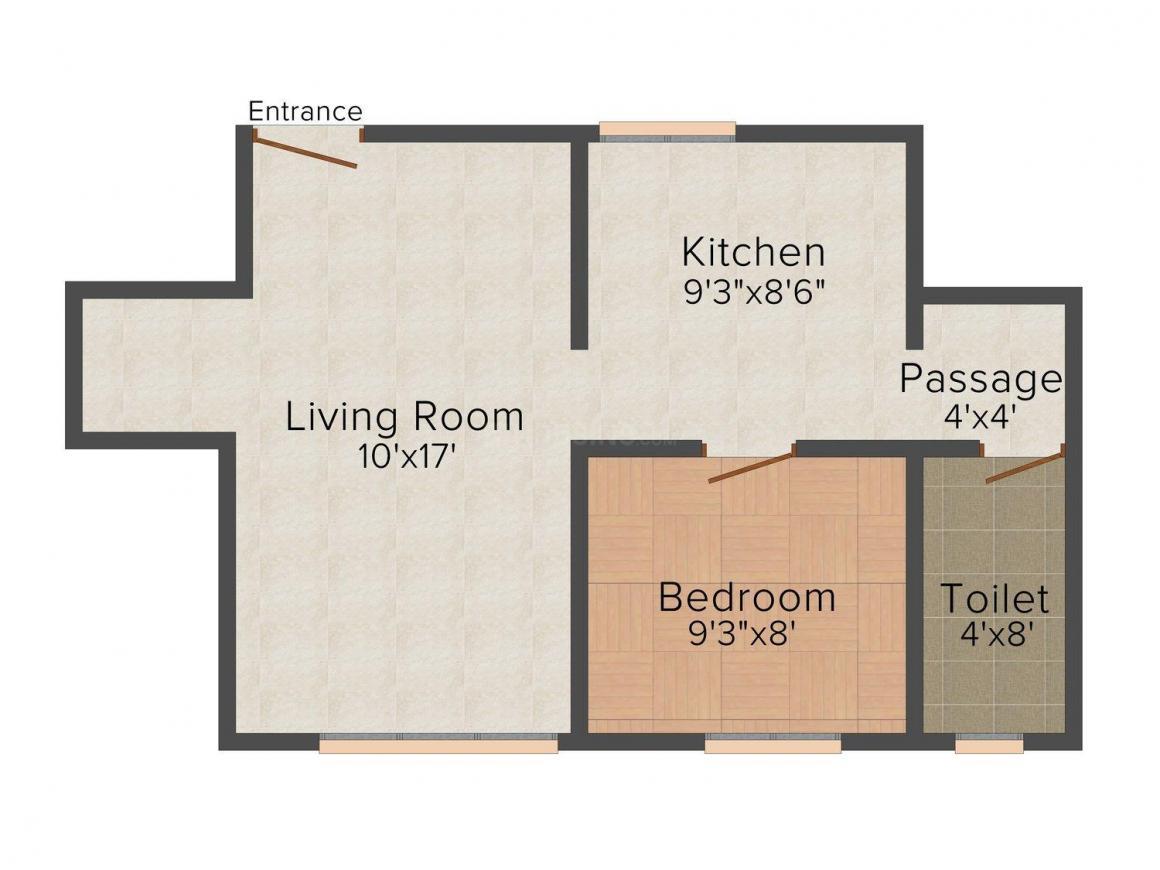 Sudama Sudama Vijay Floor Plan: 1 BHK Unit with Built up area of 400 sq.ft 1