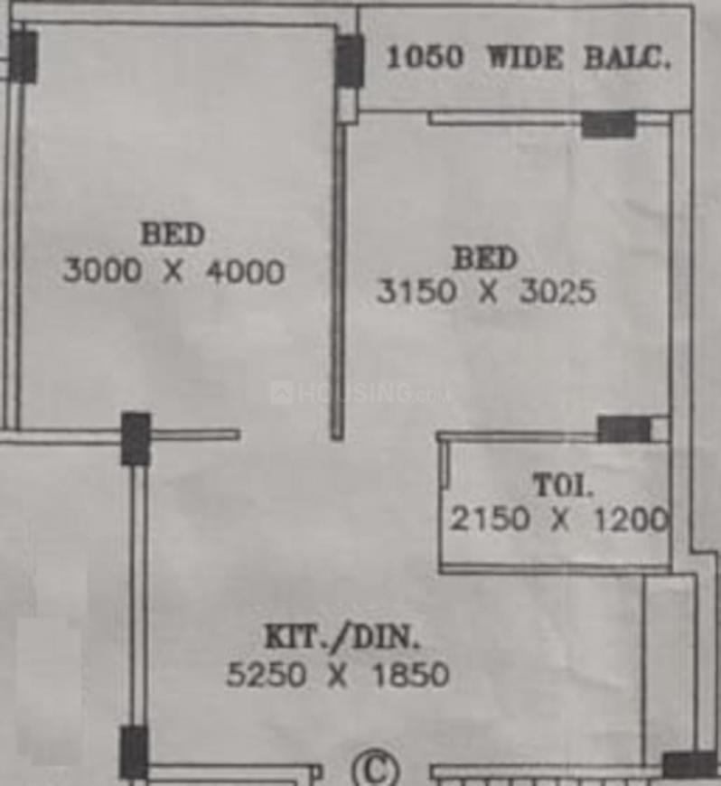Sai Ram Saraswati Abasan Floor Plan: 2 BHK Unit with Built up area of 703 sq.ft 1