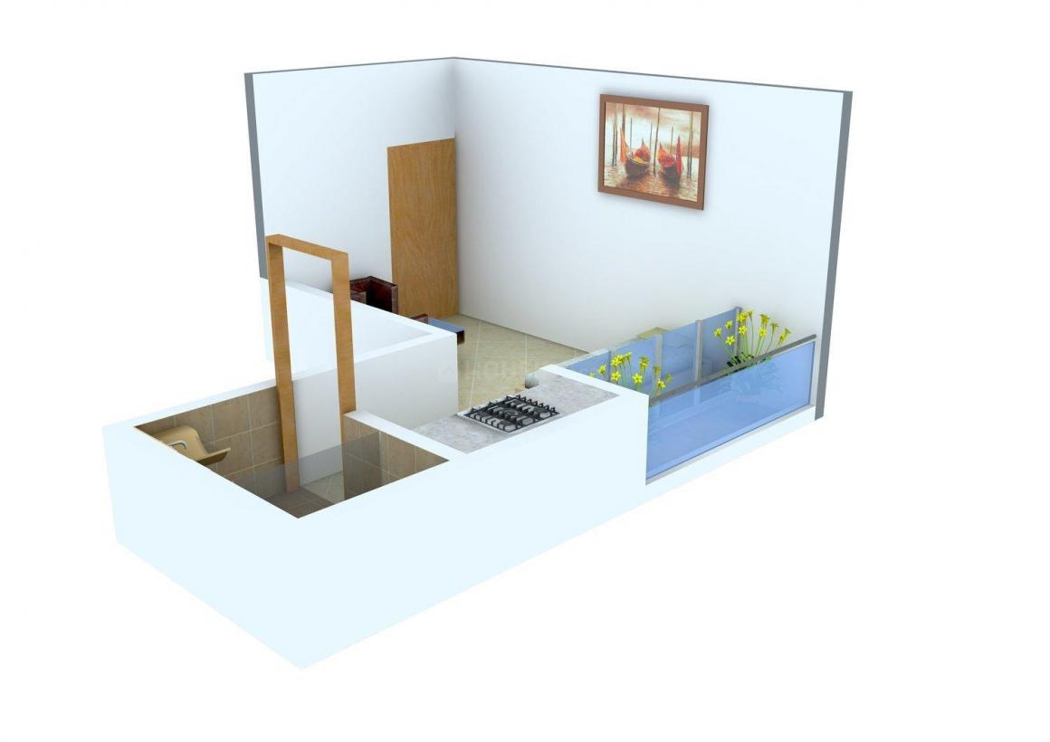 Floor Plan Image of 270.0 - 415.0 Sq.ft 1 RK Apartment for buy in MJR Sunshine Residency
