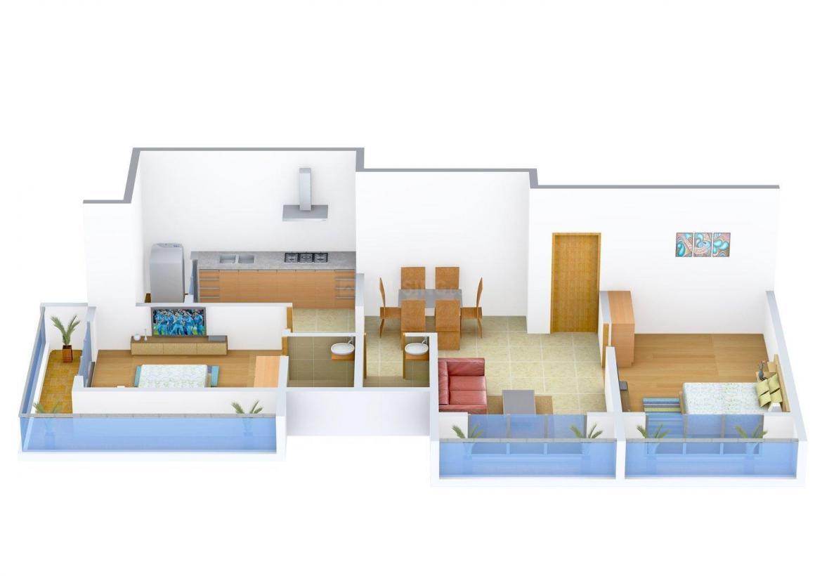Floor Plan Image of 329.16 - 699.55 Sq.ft 1 BHK Apartment for buy in Navkar Bhagyayog CHSL