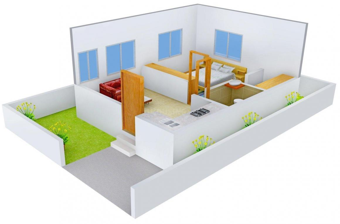 Floor Plan Image of 417.0 - 1537.0 Sq.ft 1 BHK Villa for buy in Akilene Harbour Greens