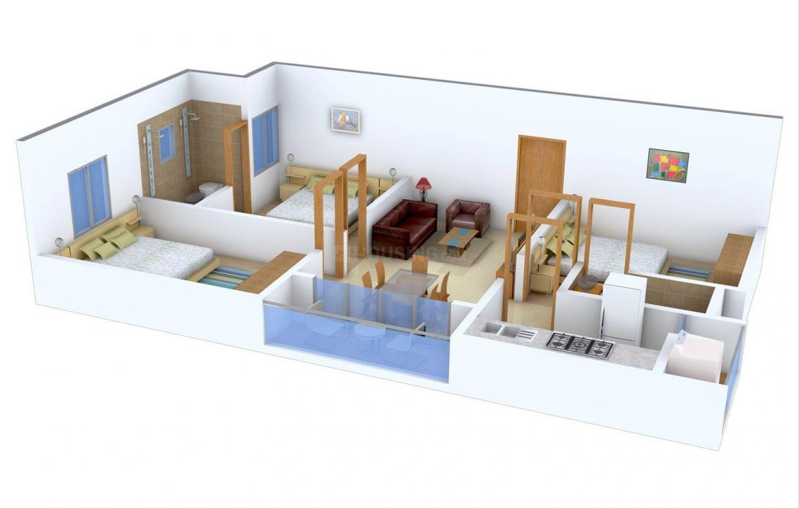 Floor Plan Image of 782.0 - 1270.0 Sq.ft 2 BHK Apartment for buy in Ganga Aashika Apartments