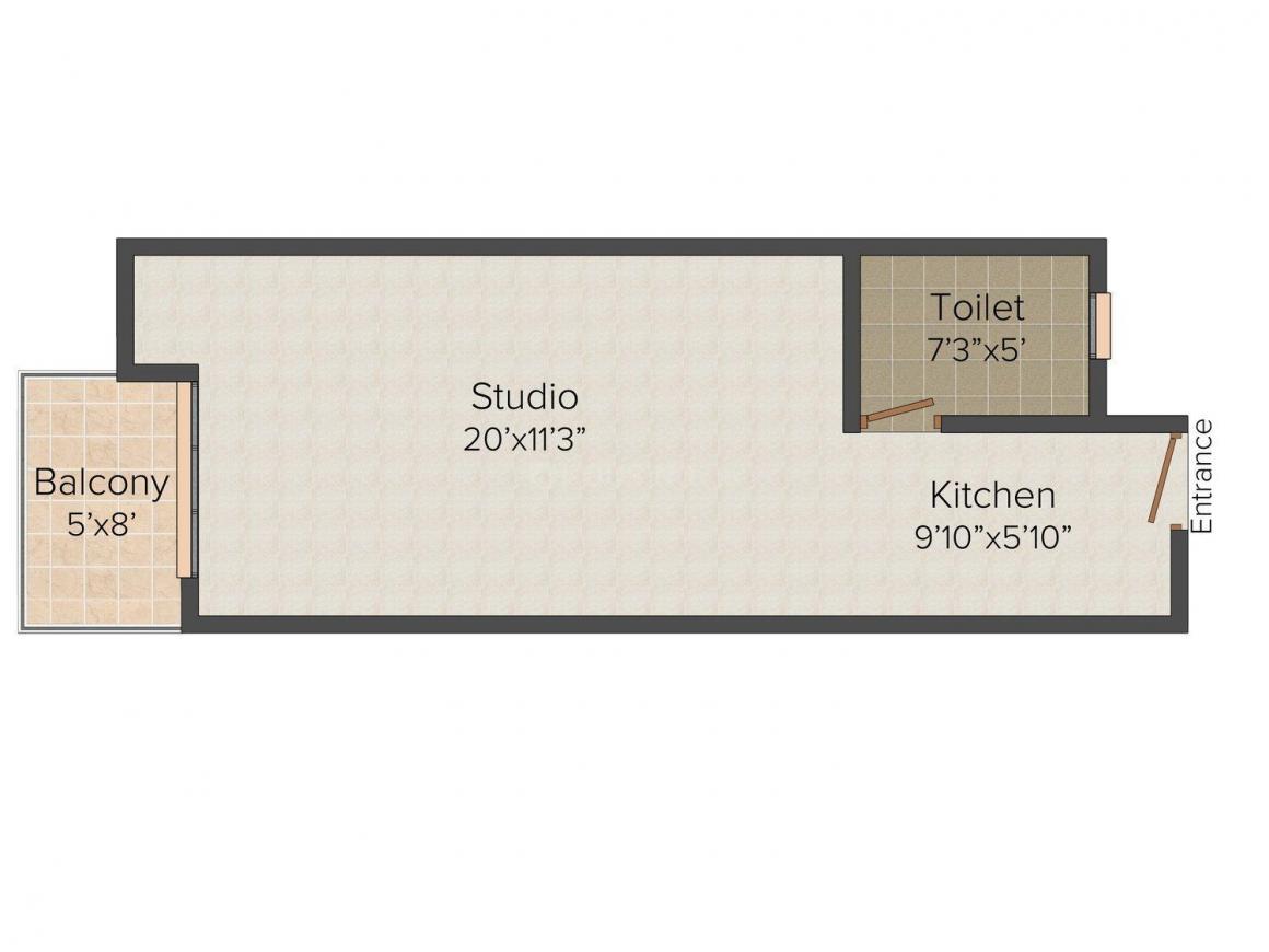 Floor Plan Image of 520 - 2575 Sq.ft 1 RK Studio Apartment for buy in Sankalp Suparshwa