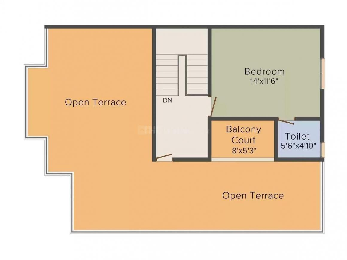 Bhakti Raj Floor Plan: 4 BHK Unit with Built up area of 1863 sq.ft 3