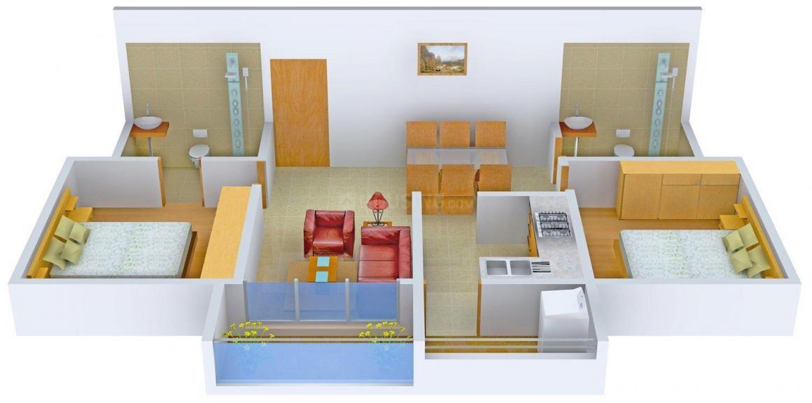 Floor Plan Image of 1335 - 1912 Sq.ft 2 BHK Apartment for buy in AVR Shrikrishna J Kamat Towers