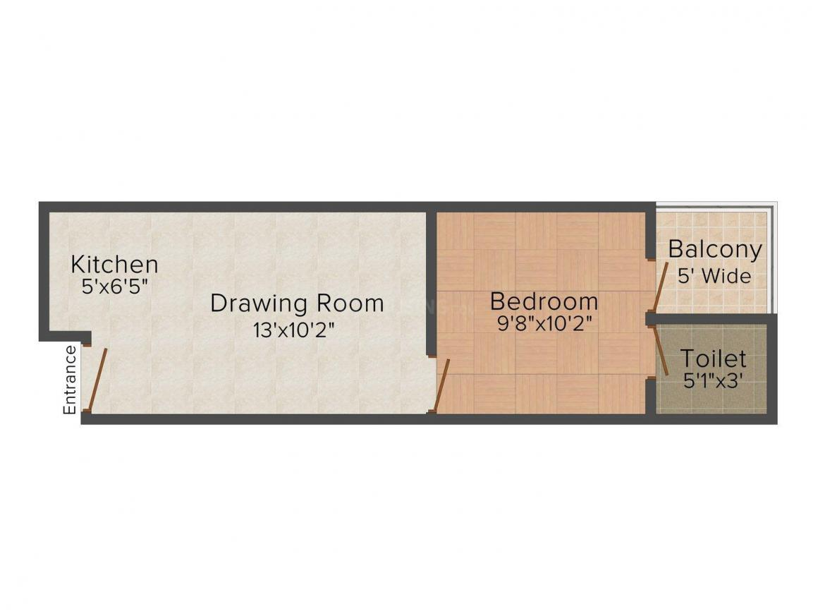 Floor Plan Image of 0 - 450 Sq.ft 1 BHK Independent Floor for buy in Sharma Homes - 908