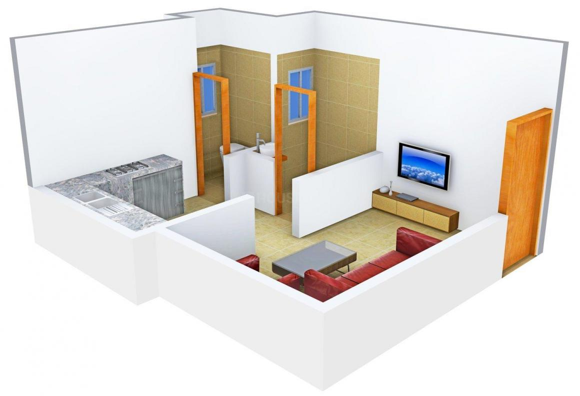 Floor Plan Image of 421.0 - 659.0 Sq.ft 1 RK Apartment for buy in A & K Abhishek Apartment A & A1 Wing