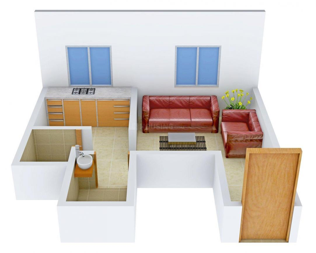 Floor Plan Image of 301 - 797 Sq.ft 1 RK Apartment for buy in Swarajya R - Thale Arch