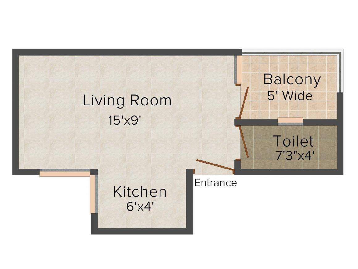 Floor Plan Image of 300.0 - 750.0 Sq.ft 1 RK Studio Apartment for buy in Shree Homes