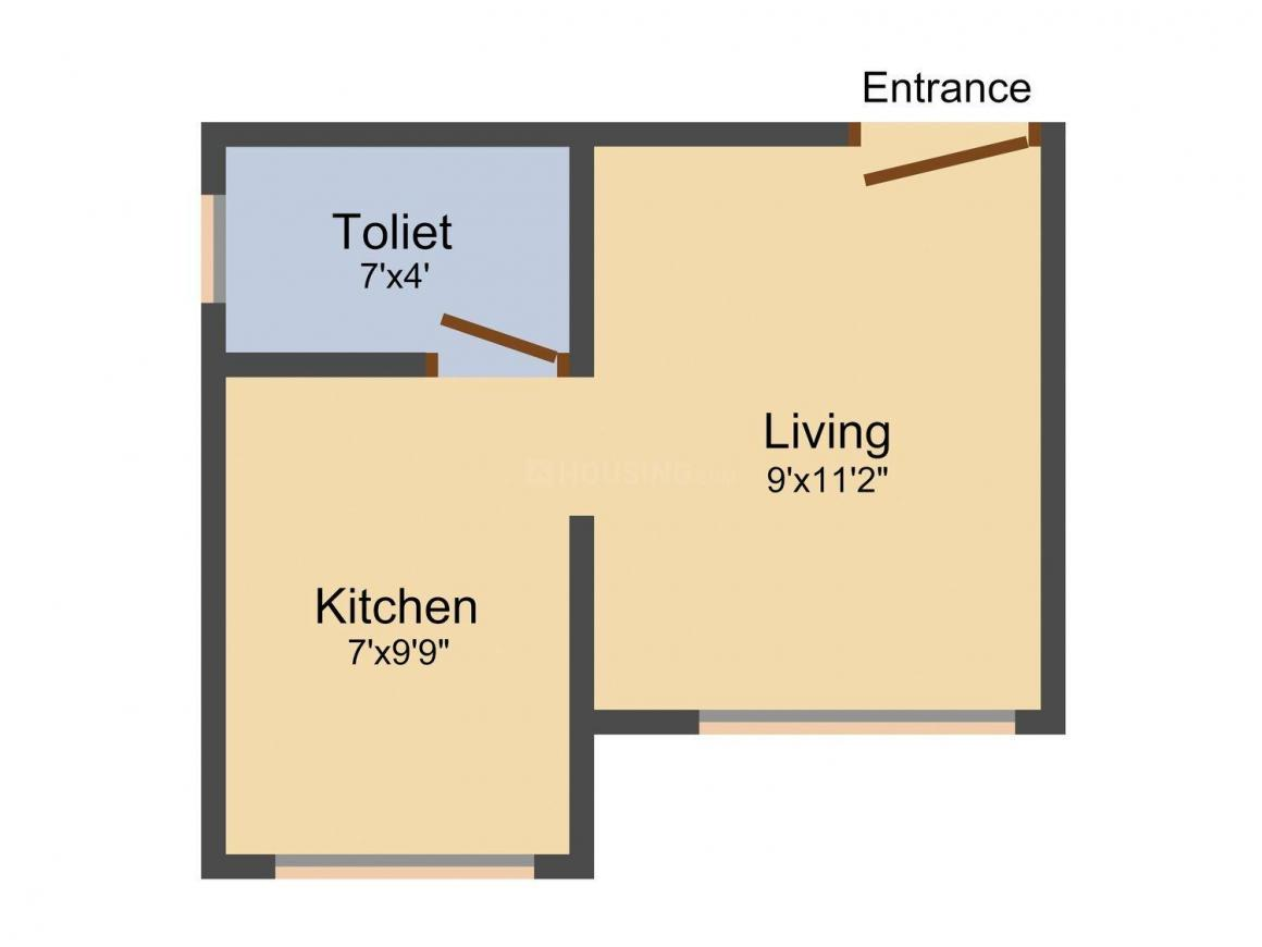 Floor Plan Image of 300 - 537 Sq.ft 1 RK Apartment for buy in Star Royal Apartment