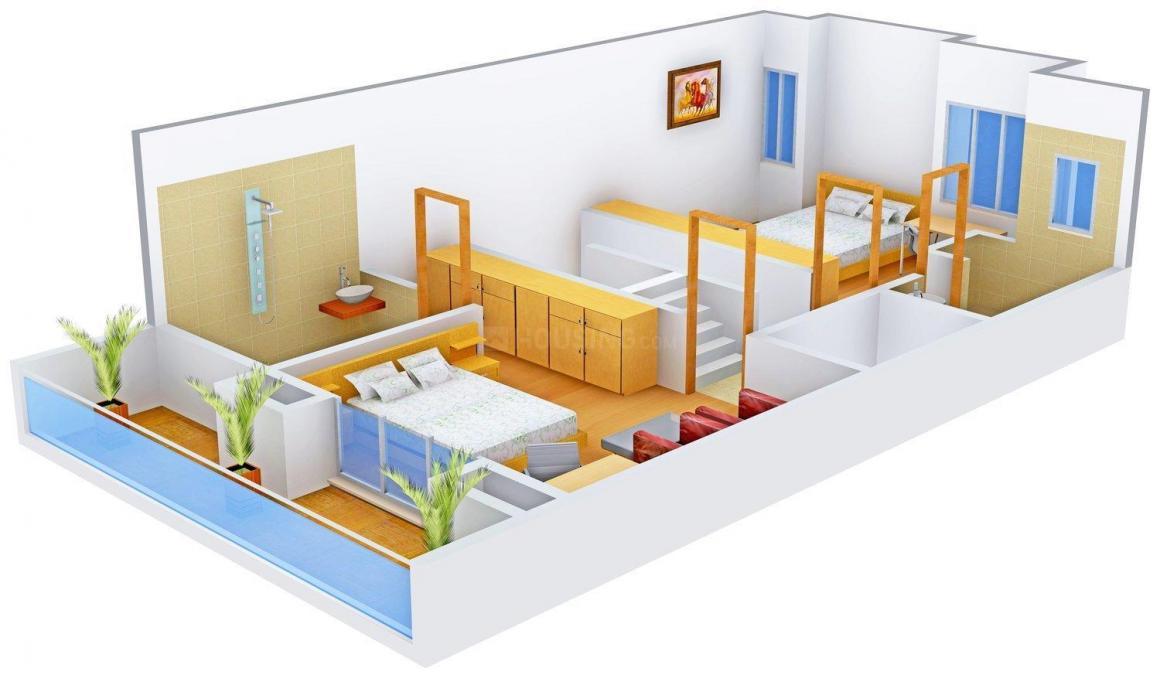 Deore Shubhamkaroti Floor Plan: 3 BHK Unit with Built up area of 3000 sq.ft 2